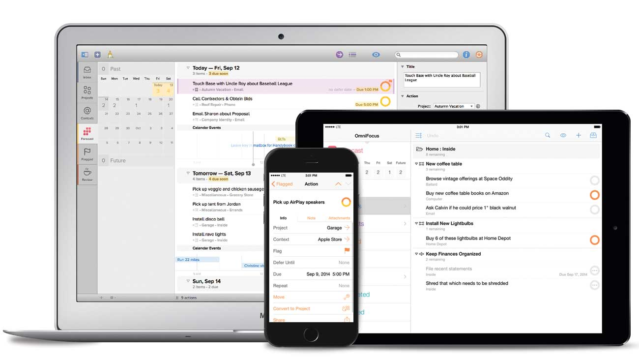 Omnifocus is a high-powered checklist software for businesses to easily integrate with other development tools.
