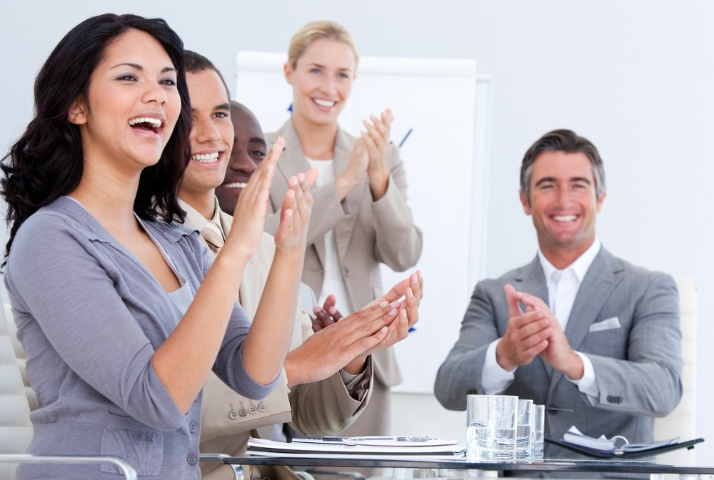 Employee recognition of a job well done can keep employees motivated and determined to succeed.