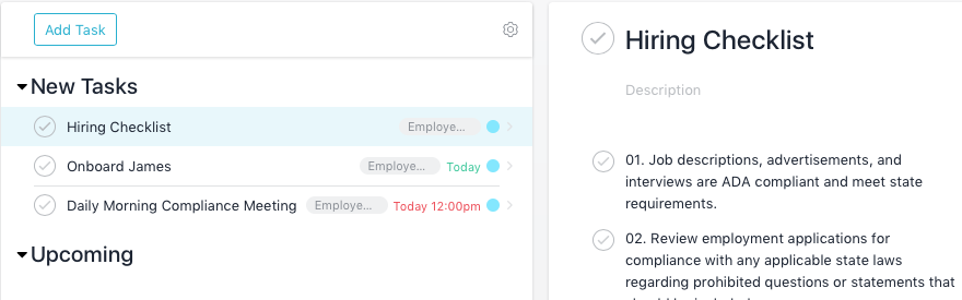 We tested Asana against our base case and liked how easy it was to communicate with team members.