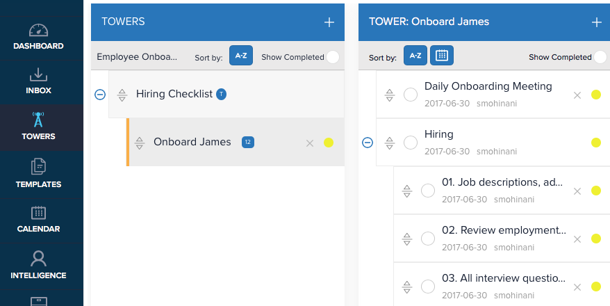 CommandHound allows users to easily delegate tasks, with a focus on performance tracking to make sure things get done.